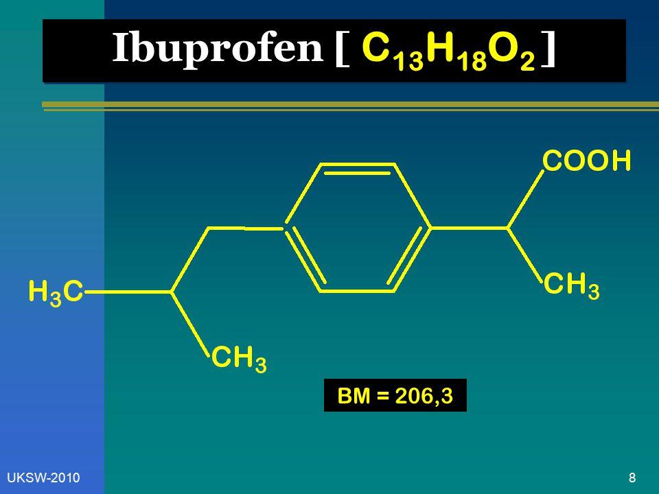 Ibuprofen [ C13H18O2 ] BM = 206,3 UKSW-2010